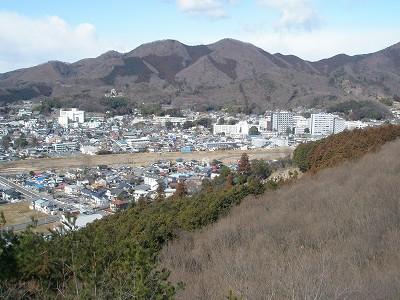 1 吾妻山と桐生川、桐生市街