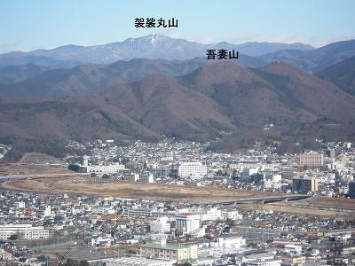 3 吾妻山と袈裟丸山