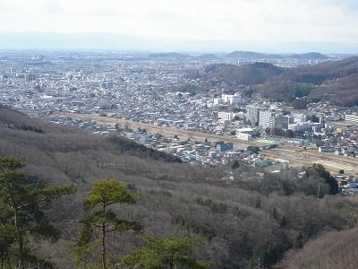 4 観音山から桐生川と市街地