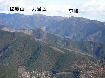 1 熊鷹山、丸岩岳、野峰