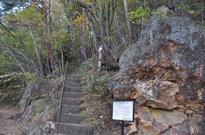 立石登り口