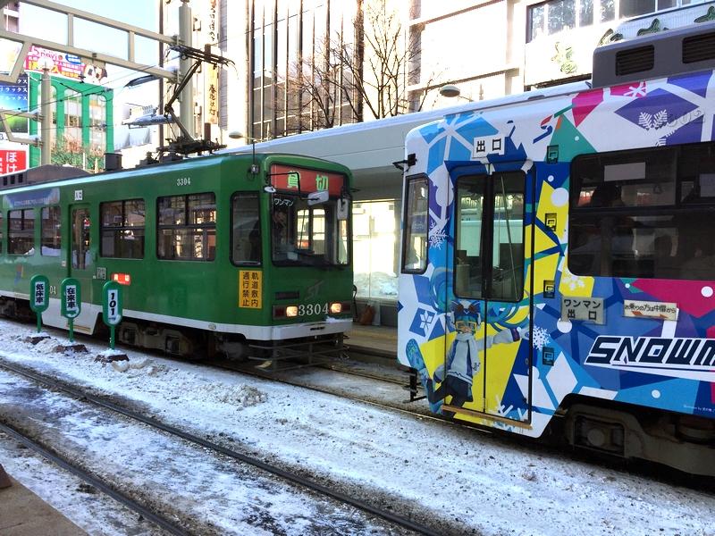 貸切電車+スノーミク2016電車