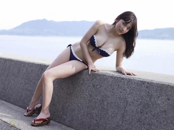 都丸紗也華 Fカップ水着グラビアがむっちりでセクシー 画像28枚 10
