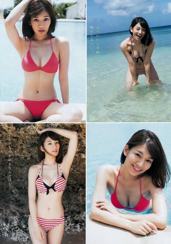 佐藤美希 Fカップ谷間を強調した水着グラビア 画像28枚 3