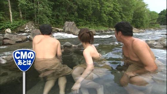 佐藤美希 Fカップ巨乳をバスタオルでガードした温泉入浴キャプ 画像30枚 14