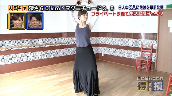 伊藤綾子 フラメンコを披露し腋チラを連発したキャプ 画像25枚 5