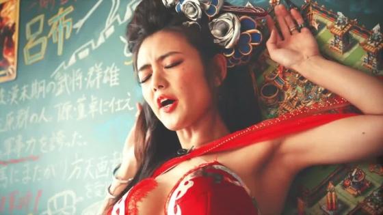 片山萌美 三国天武CMのGカップ爆乳露出キャプ 画像27枚 7