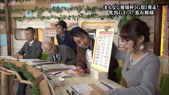 鷲見玲奈 ウイニング競馬のFカップ着衣巨乳高画質キャプ 画像29枚 26