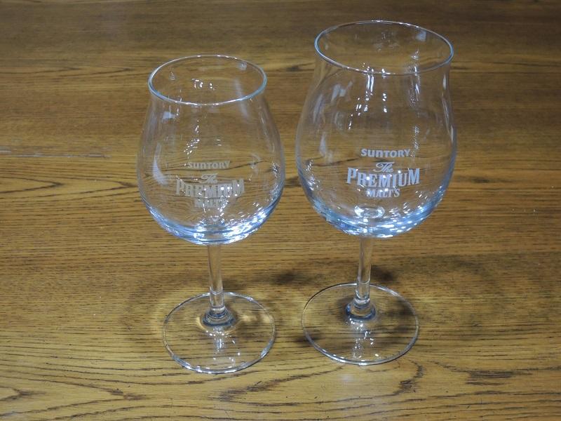 グラスを比べます