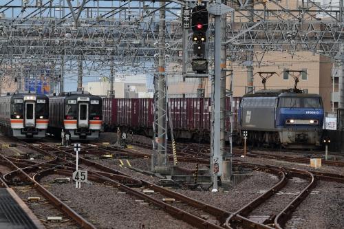 JR岐阜駅 EF200・キハ75