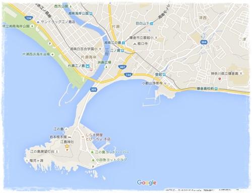 鎌から東江の島