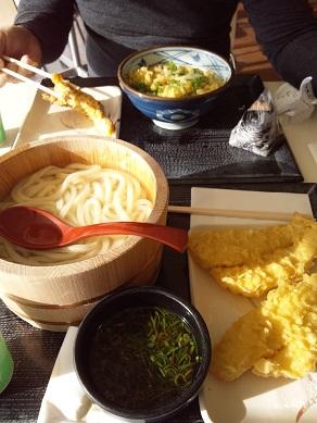 丸亀製麺 釜揚げうどん 黄金カレイの天ぷらW