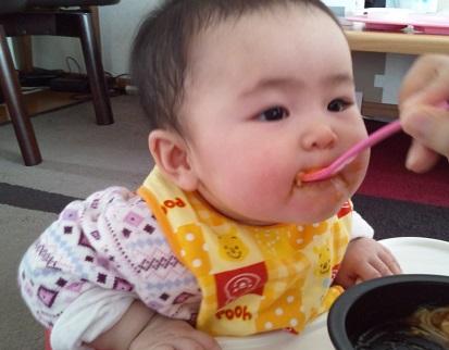 1月6日ベビーソーメン+トマト+かぼちゃ2