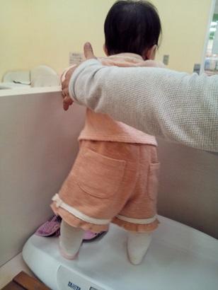 生後8か月 体重測定3