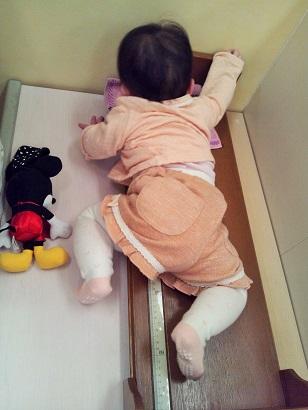 生後8か月 身長測定1