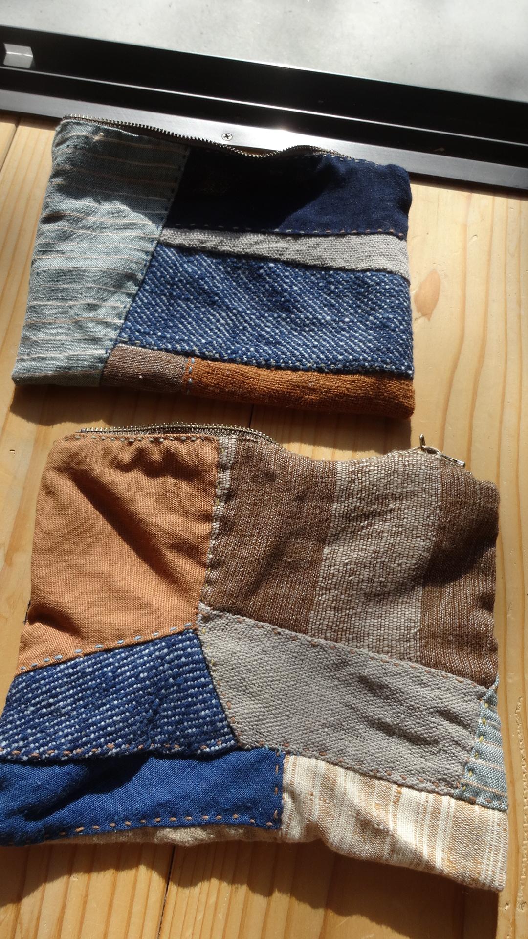草木染め手縫い小物パースAB1