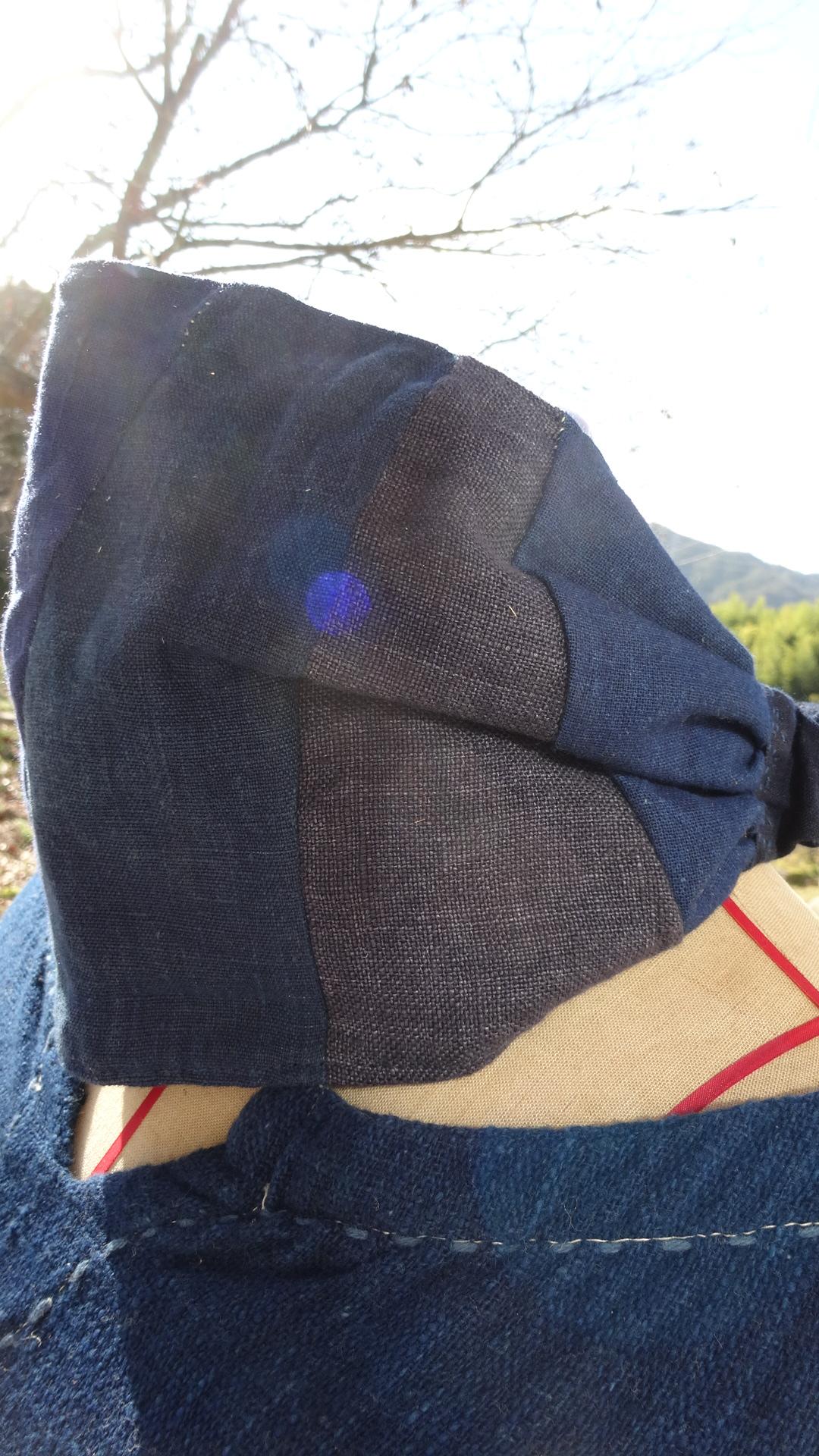 藍染パッチヘアバンドB1