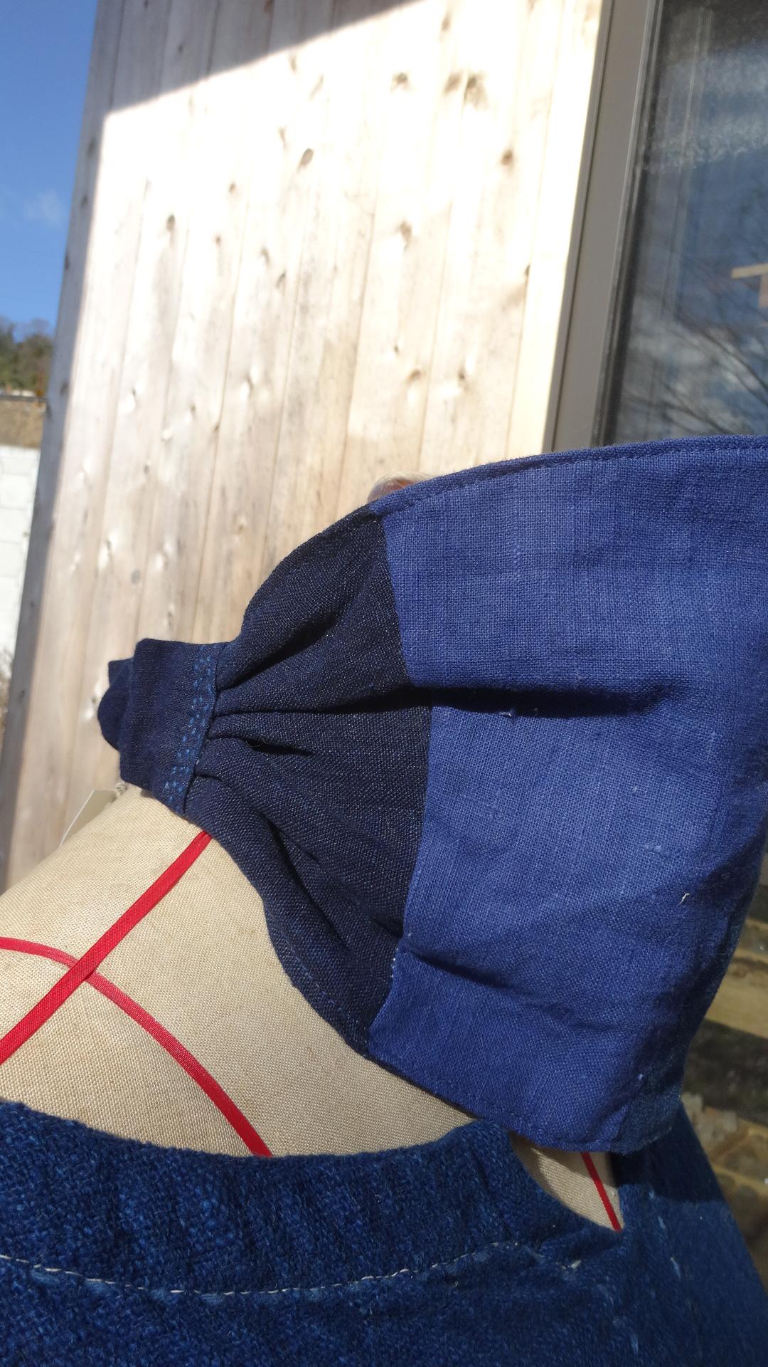 藍染パッチヘアバンドB2