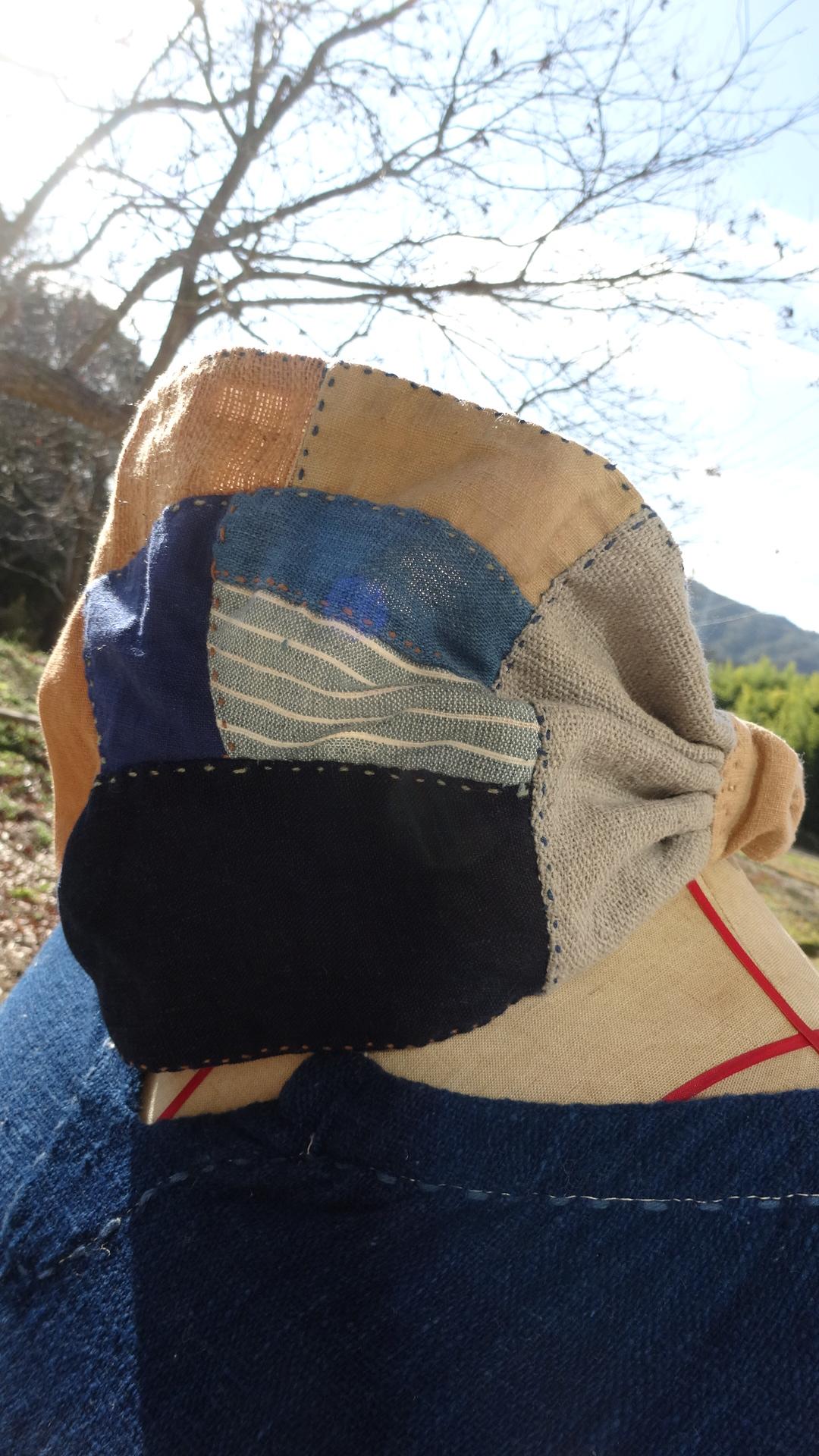 パッチワーク手縫いヘアバンド1