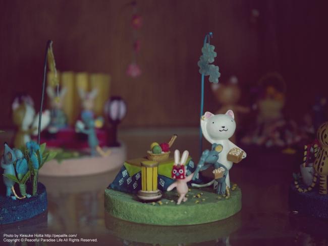 2月の猫と鼠と兎(豆まき)