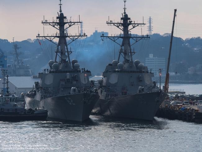 アメリカ海軍ミサイル駆逐艦 DDG-62 フィッツジェラルドとDDG-85 マッキャンベル