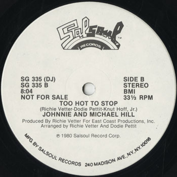 DG_JOHNNIE AND MICHAEL HILL_TOO HOT TO STOP_201601
