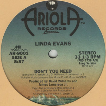 DG_LINDA EVANS_DONT YOU NEED_201601