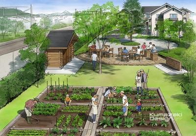 分譲地 土地 菜園 宅地開発 完成予想図 手書きパース 手描きパース フォトショップ着色 photpshop