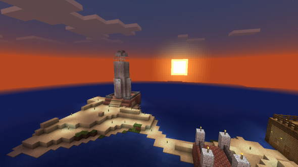 マイクラ 日の出 灯台