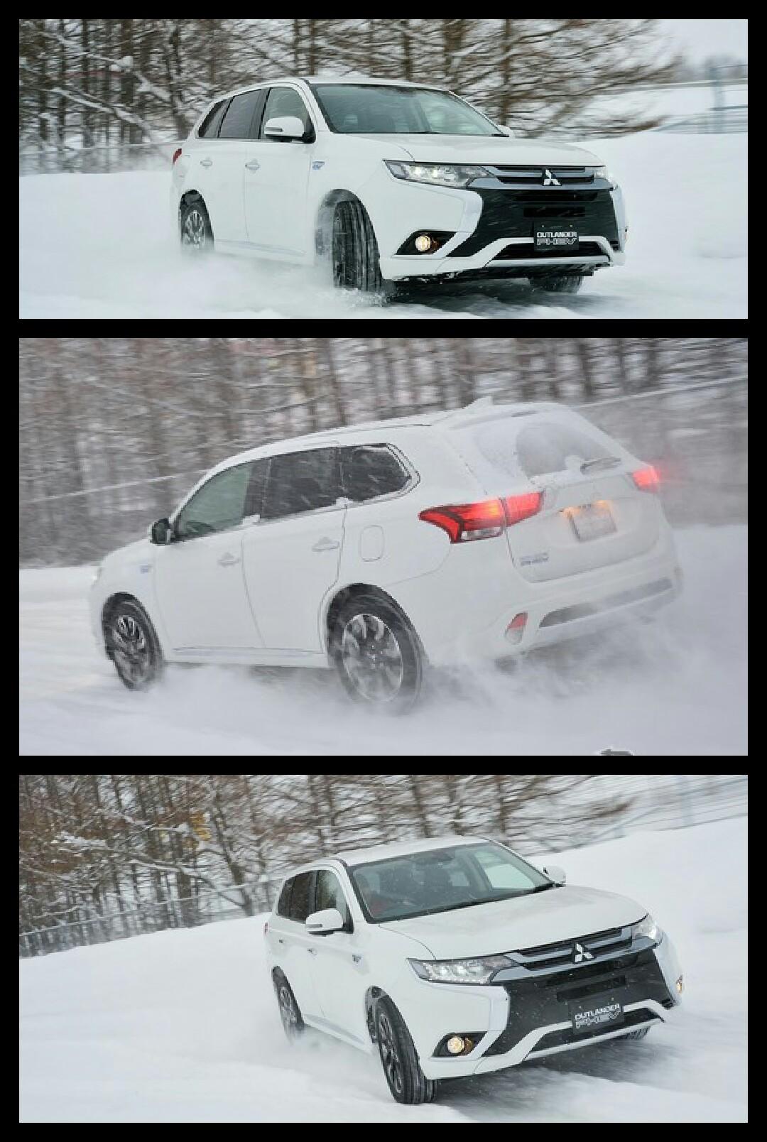 アウトランダーPHEV 開発車 北海道 雪上試乗会