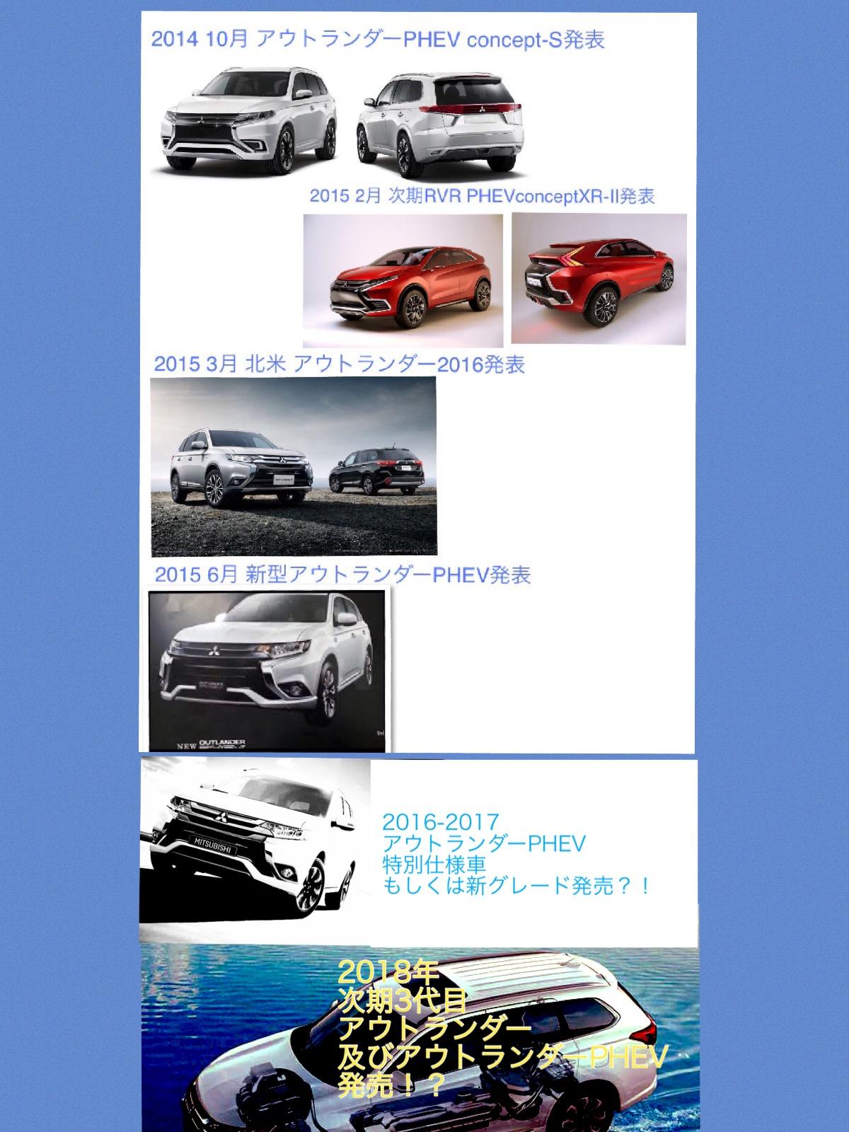 次期 2018 アウトランダーPHEV Mitsubishi Outlander phev next2018