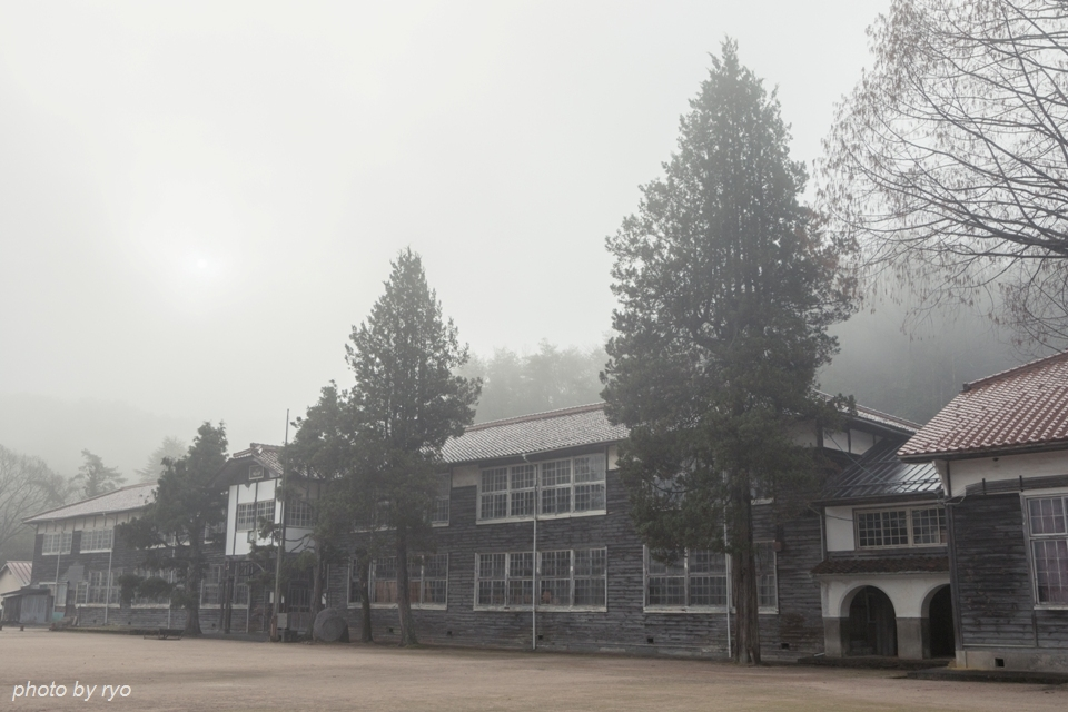 霧の中に佇む