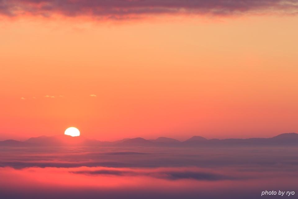初日の出と霧の海 2016_7