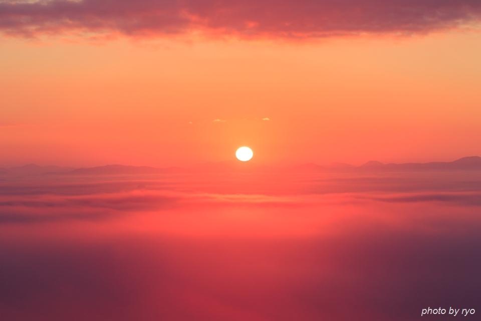 初日の出と霧の海 2016_8