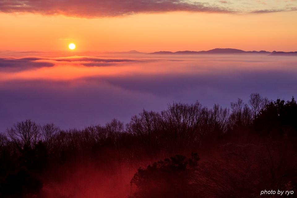 初日の出と霧の海 2016_9