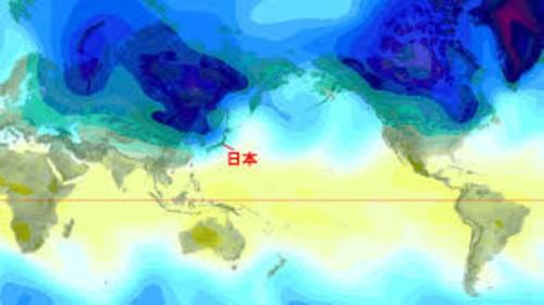 寒波地図 500