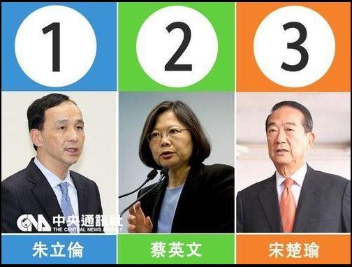 ②たぶん蔡英文や朱立倫や宋楚瑜はグルで敵と味方に分かれて台湾人を騙している