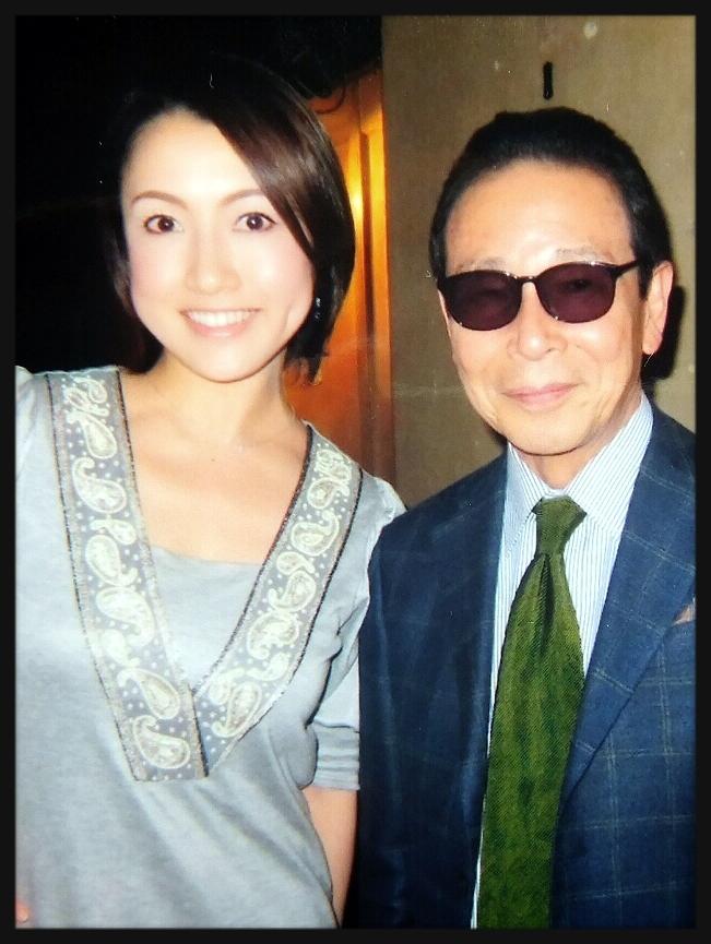 ①宮沢磨由Jazz spot「J」の取締役宣伝部長でもあるタモリさんと、以前「J」で撮っていただいた写真です