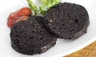 black pudding on plate