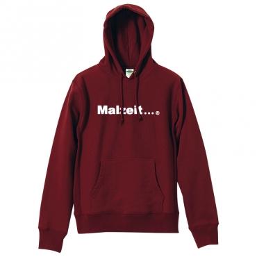 malzeit logo hoodie burgundy