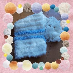 編み物 長女のマフラー1縮小