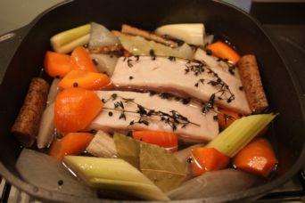 塩豚ハーブの根菜ポトフ1