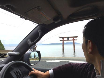 2015Dec5th琵琶湖白髪神社鳥居