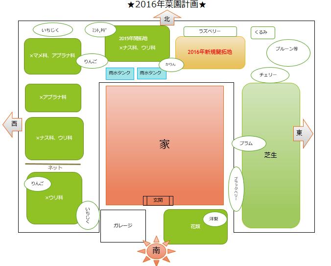 2016年 菜園計画図
