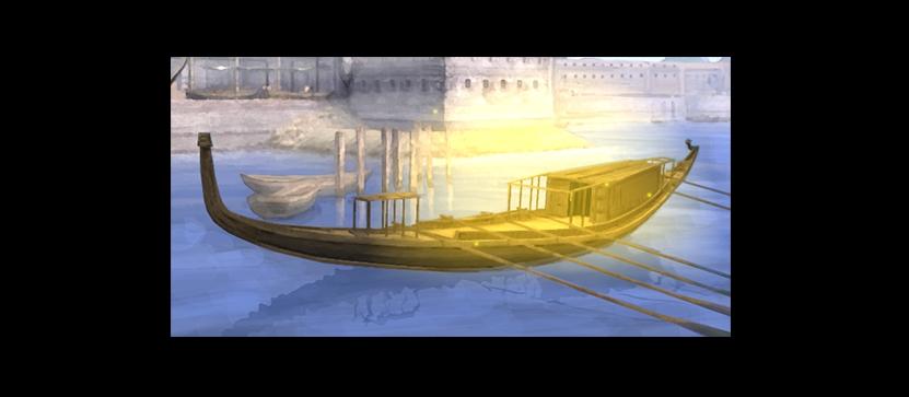 太陽の船イラスト