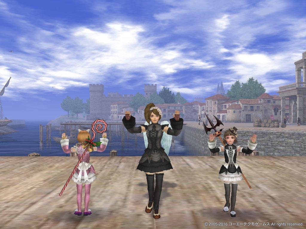 踊るレースフリル姉妹+1匹