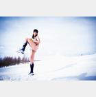 【野球ネタ】神スイングで話題になった稲村亜美、マイナス10℃の雪山でほぼ裸!