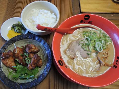 鶏の唐揚げ定食(こってり)(980円)
