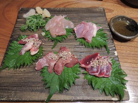 熊野地鶏の刺身特上(950.4円)
