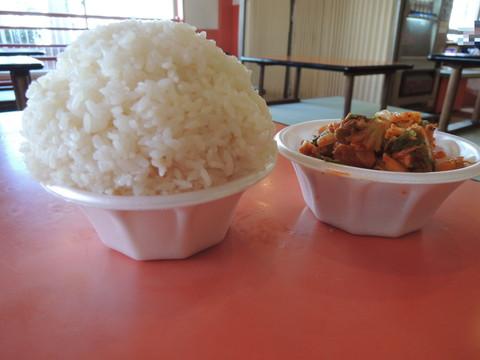 白ご飯とキムチ